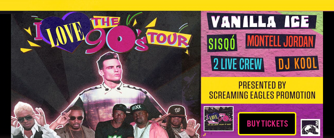 I Love The 90s: Vanilla Ice, Montell Jordan, Biz Markie & Rob Base at PNE Amphitheatre